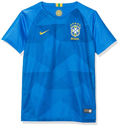 Nike Kinder Brasil CBF Away Stadium T-Shirt, Soar/Midwest Gold, M