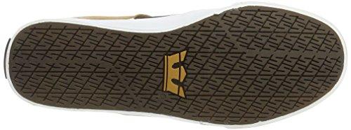 Supra Stacks II Vulc, Sneakers Basses Homme Marron (Demitasse/tan)