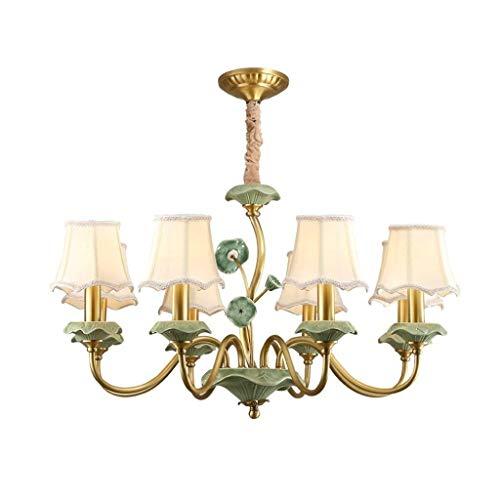 Czz lampadari lampadari in american copper projector lounge pastorale francese del retro ristorante in ceramica all'hotel villa e14 lampada a soffitto budget di illuminazione