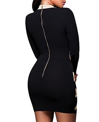 Cfanny - Robe - Moulante - Femme Black Apricot