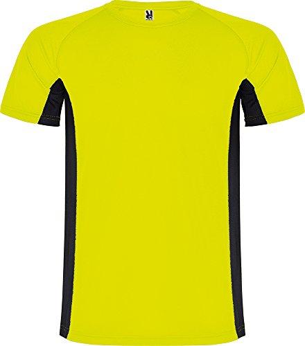 Camiseta 6595 Shanghai Hombre - Amarillo Fluor/Negro 22102 - L