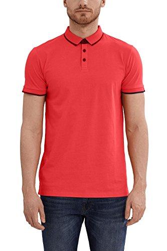 ESPRIT Herren Poloshirt 037EE2K023 Rot (Red 630), X-Small