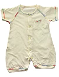 Body de manga corta de algodón con botón niños ropa para verano
