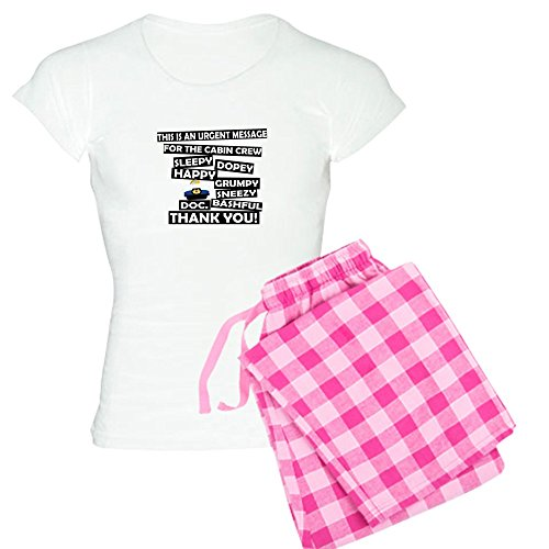 CafePress Kabine Druck–Zwerg Namen Schlafanzüge–Damen Neuheit Baumwolle Pyjama Set, bequemen PJ Nachtwäsche Gr. XX-Large, With Pink Pant (Kabine Drucke)