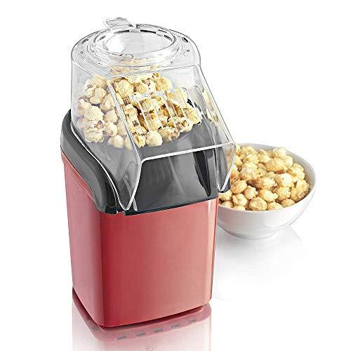 """Retro Popcorn Maker Maschine, WULAU Automatische Popcornmaschine, Heissluft Ohne Fett Fettfrei Ölfrei Profi-Retro-Popcorn-Maschine\""""Cinema\"""",1200 W, Red"""