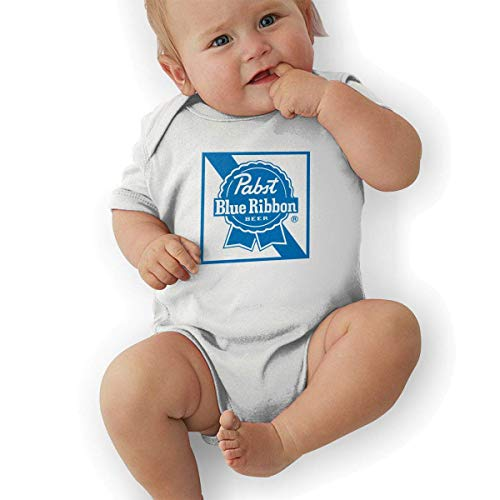 Bodys & Einteiler,Babybekleidung, Baby one-Piece Suit,Baby Jumper,Pajamas, Bodysuit Baby, Pabst Blue Ribbon Beer Logo Baby Girls' Cotton Bodysuit Baby Clothes -
