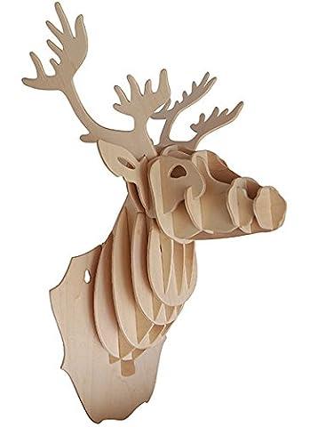 Deer Head QUAY Woodcraft Construction Kit