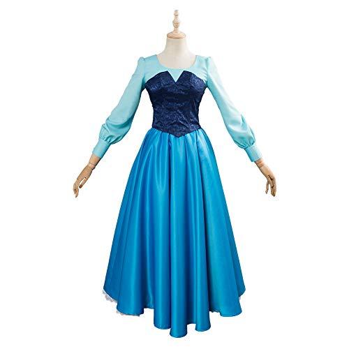 eine Meerjungfrau Cosplay Prinzessin Cosplay Kostüm Kleid Remake Version Mädchen Frauen Anzug Halloween Karneval Kostüm,L ()