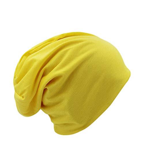 EJKDF 10 Farben Solide Erwachsene Unisex Frauen Hip Hop Knit Warme Mütze Für Frau Caps Winter Bonnet Yellow