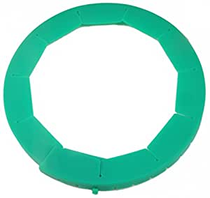 Silicone Pie Crust Shield, Adjustable Pie Protector, Green by Cornucopia Brands
