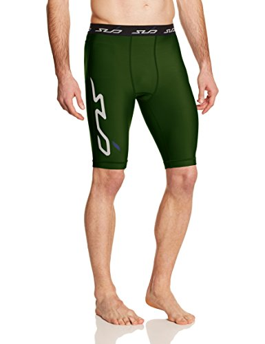 Sub Sports Herren Cold Kompressionsshorts Thermisch Funktionswäsche Base Layer  hose kurz, Grün, L (Kurze Baseball-hose)