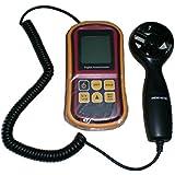 Anemómetro de flujo de aire, YH-THINKING Portable 8 en 1 viento velocidad medidor multiusos anemómetro Digital conveniente para la medición de temperatura humedad