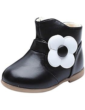 Baby Stiefel, Chshe Martin Casual Blumen Gedruckt Sohle Gummi Obere Kunstleder Mit Reißverschluss Kind Stiefel