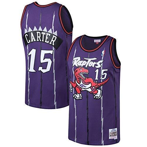 Lalagofe Vince Carter Maglia Toronto Raptors #15 Dunk Jersey Canotta (S)