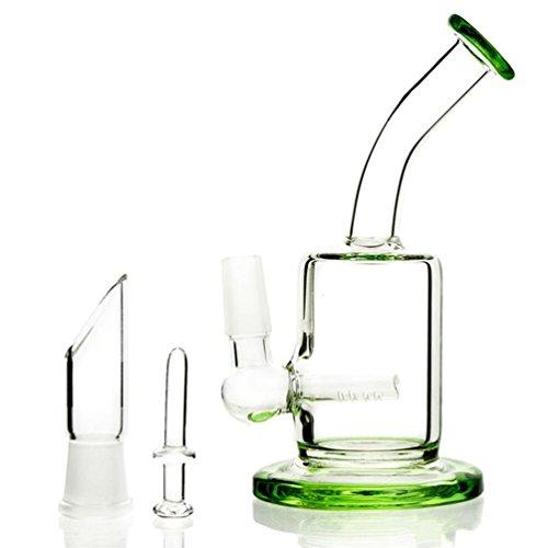 Vert Bong Micro Bong En Verre Mini Dab Rig Fumer De L'eau Pipes Inline Perc Percolateur Verre Bongs D'eau 14.5mm Joint Avec Bol Bong Et Nail (vert)