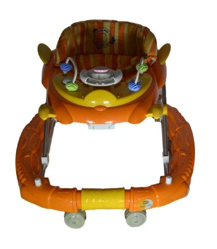 Baby Mix Orange & Yellow Aeroplane shape Coloured Baby Walker cum Rocker