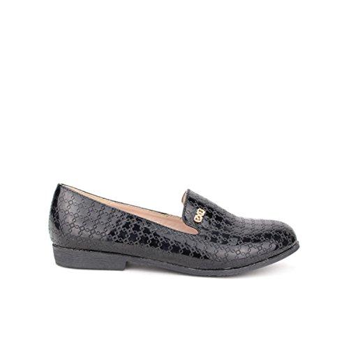Cendriyon, Mocassin Verni Noir EXO Fashion Chic Chaussures Femme