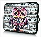 13-13.3 Zoll Tablet Hülle, laptoptasche - zoll Fall Neopren für Notebooks Dell HP Macbook Samsung Apple Toshiba (13 Owl)