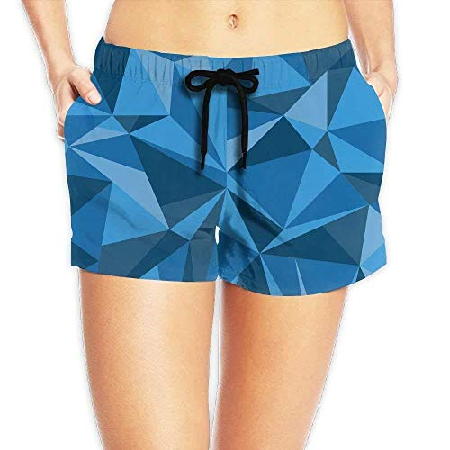 Women's Hawaii Hawaiian Blue Triangle Polygonal Geometric Graphic Boardshorts Beach Shorts Swim Trunks Small - Under Armour Graphic T-shirt Baseball