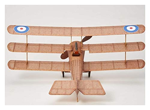 Sopwith Tri-Plane complete vintage model rubber-powered balsa wood aircraft kit that really flies! (Balsa-flugzeug-modelle)