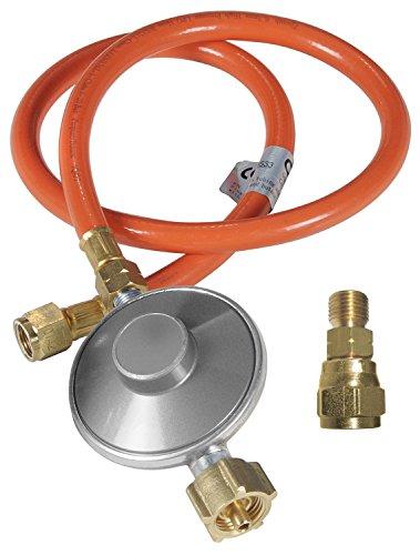 Outdoorchef Grill Gasdruckregler 50mbar- Druckminderer für einfache Selbstmontage - Gasschlauch + Druckregler + Adapter für Gasgrill -