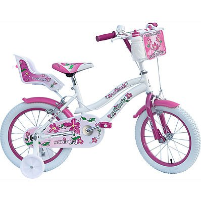 SCHIANO Bicicletta Girl 12 Flowers Donna 01V. Bianco 048