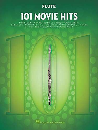 101 Movie Hits For Flute: Noten, Sammelband für Flöte Sammlung Flöten