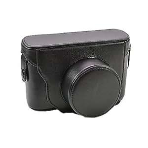 Nouvelle affaire Sac en cuir Caméra Pour Fujifilm FUJI FinePix X20 X-20 LC-LCX20 Noir