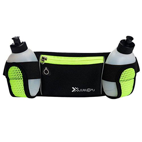 asche mit Flaschenhalter Multifunktions Verstellbar Gurt Sports Lauftasche Hüfttasche mit Handy Smartphone und Wasser Flaschen Halter (Flaschenhalter Mit Gurt)