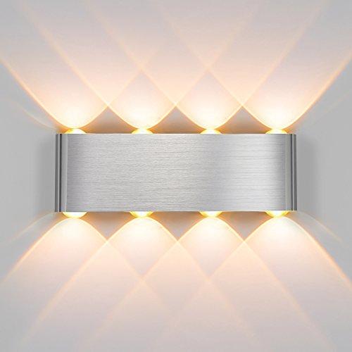 Joylink 8W LED Apliques de Pared Moderna Lámpara De Pared Aluminio Blanca...