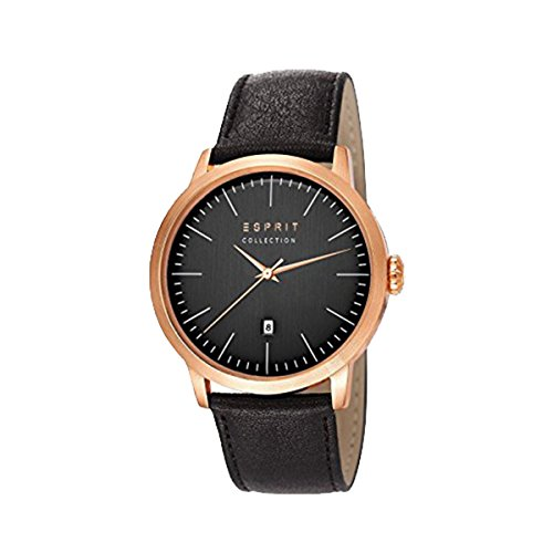Esprit Herren-Armbanduhr Soter Analog Quarz Leder EL102131F03