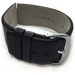 Genuine Skagen 28mm Black Leather Watch Strap