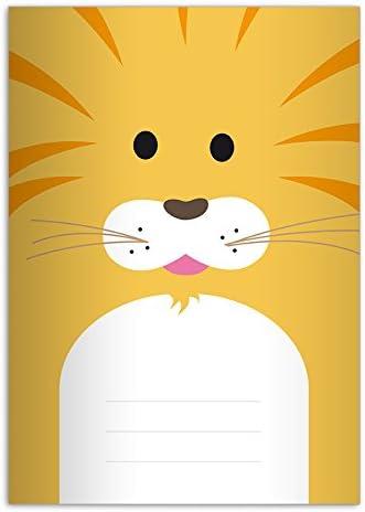 32 Mignons cahiers, cahiers, cahiers, dessin: petit lion, A5 (21x14,8), cahiers de notes/ carnets de notes linéatur 6 (pages blanches) | D'être Très Apprécié Et Loué Par Les Consommateurs  292c7c