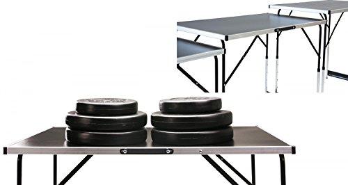 Tapeziertisch MASTER 3- teilig, 100 x 60 cm, Klapptisch als Multifunktionstisch nutzbar, Stahlrohrgestell, Gewicht 12 kg,...