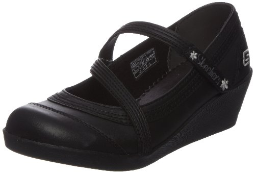 Skechers Kids Best Girl, Mädchen Ballerinas, Schwarz (Black), 33 EU (13.5 UK Child)