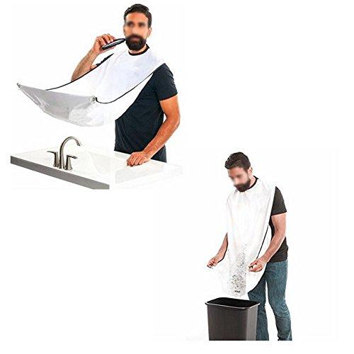 ASDF JL Bart Trimmen Schürze Befestigen Sie Die Saugnäpfe Am Spiegel Für Männer Rasieren Grooming Macht Ihren Bart Einfacher Zu Pflegen (2 Stück)