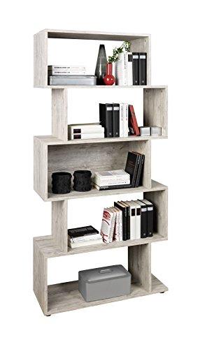 Unbekannt FMD Möbel Kubi 1 Regal, Holz, sandeiche, 83.5 x 33 x 175 cm