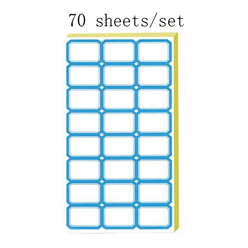 Liu Yu·Espace de bureau, Entreprise Ecole Fournitures de magasin bleu Étiquette Stickers Catégories Marqueurs Notes 70 feuilles / jeu
