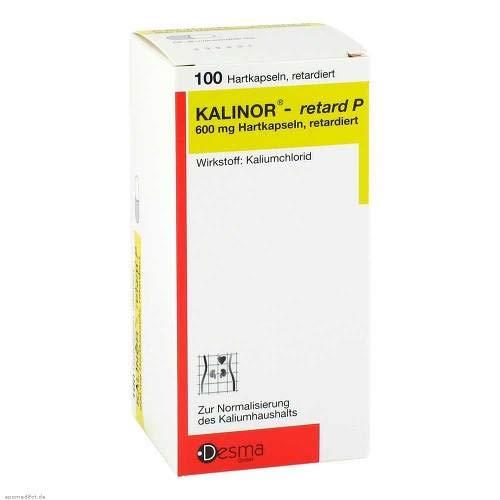Kalinor retard P 600 mg H 100 stk