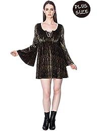 5298b21e481e Banned Plus Size Damask Flared Dress