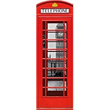 1art1® Londres - Cabina Telefónica Roja con Big Ben Y Támesis, Collage Cuadro,
