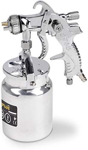 Varo PROFI Druckluft Niederdruck- Spraypistole, Spritzpistole, Lackierpistole, SAUGBECHERpistole mit 1000 ml Becher - POWAIR0110