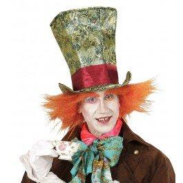 �Zylinder der verrückten mit Haar, Mehrfarbig, One Size (Kostüme Kontakte)
