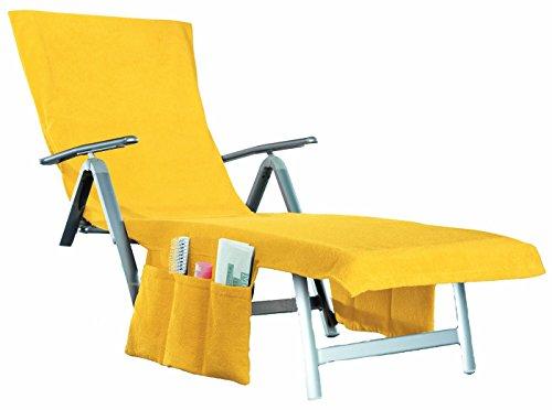 beties 2 in 1 Frottee Liegenauflage Sunny umwandelbar in eine Badetasche + Seitentaschen + Kapuzenüberschlag ca. 70x200 cm Walkfrottee Sonne