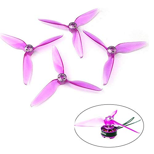4pcs 5063 Propellers 3-Blade 5 inch Props + 4pcs Quick Installation Caps + D12 Washer (Quick Installation Design) for FPV Racing Drone Quadcopter