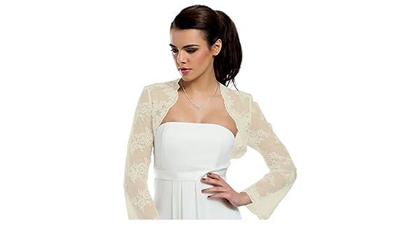be640c829fa7 MGT-Shop 60 - da Sposa Stola Bolero Giacca Sposa Cape Sposa Bolero M94   Amazon.it  Abbigliamento