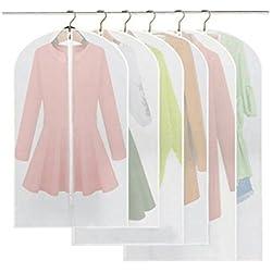 6 Stücke Kleidersack - inkl. 2 von 60*100cm und 60*120cm bzw. 60*137cm Anzugsack Kleiderhülle Anzughülle aus atmungsaktivem Material - erstklassiger Schutz für Ihre Anzüge und Kleider