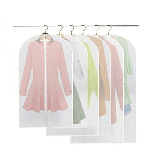 6 Stücke Kleidersack - inkl. 2 von 60*100cm und 60*120cm bzw. 60*137cm Anzugsack Kleiderhülle...