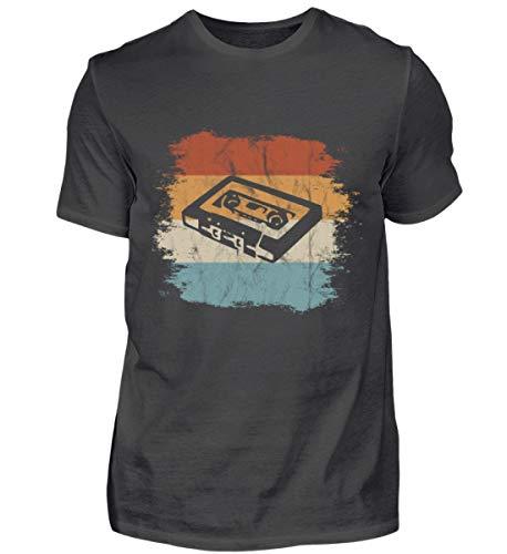 Mixtape Kassette Retro Vintage Style - Für alle, die die alte Zeit lieben und vermissen - Herren Premiumshirt -L-Asphalt -