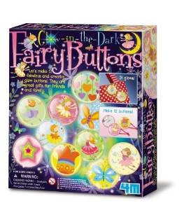 Glow in the Dark Fairy Buttons - Girl Girls Kids Children Child - Arts & Crafts Activity Kit - Great Christmas Xmas Gift Present Fun Games & Toys Idea Age 5+